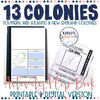 13 Colonies Activity Flip Book