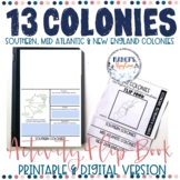 13 Colonies Activity Flip Book