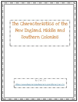 characteristics of the southern colonies