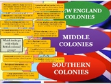 QUIZ STUDY TOOL:  New England, Middle & Southern Colonies