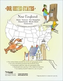 New England-'Our United States Series' 32-Page Lesson Plans Booklet