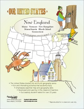 New England-\'Our United States Series\' 32-Page Lesson Plans Booklet