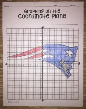 New England Patriots (Coordinate Graphing Activity)