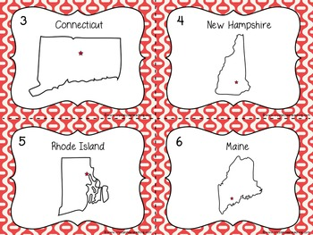 New England State Region Task Cards