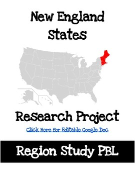 New England States Project Based Research PBL