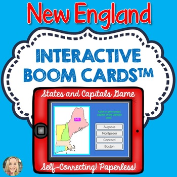 New England States and Capitals Boom Cards, Games, Geography ...
