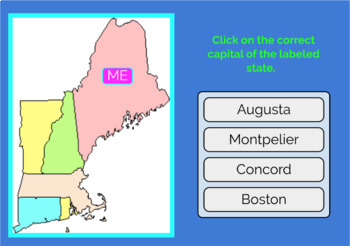 Capitals Of New England States on