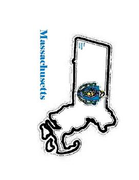 New England United States Flag Maps