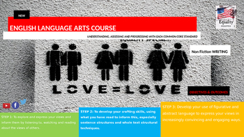 New  English Language Arts Skills Course, Non Fiction Writing EQUALITY SPECIAL