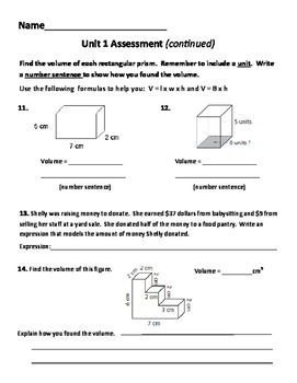 New! Everyday Math 4 5th grade Unit 1 test