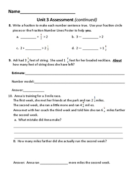 New! Everyday Math 4 5th grade Unit 3 test