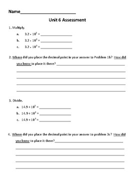 New! Everyday Math 4 5th grade Unit 6 test