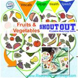 FRUITS & VEGETABLES SHOUT OUT! Spot the Match Game; vocabu