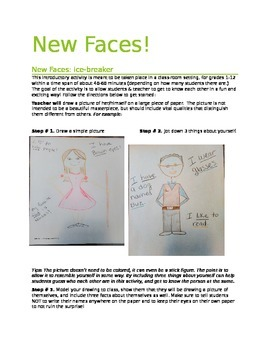 New Faces Activity!