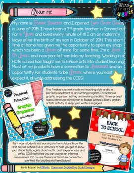 New Faces of TpT: 3rd - 6th Grade Seller Sampler