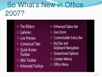 New Features of Microsoft Office 2007