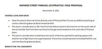 New Field Proposal - Marching Band
