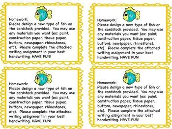 New Fish Writing and Craftivity