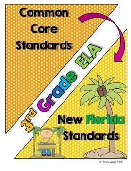 New Florida ELA Standards Compared to CCSS - 3rd Grade