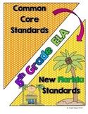 New Florida ELA Standards Compared to CCSS - 5th Grade