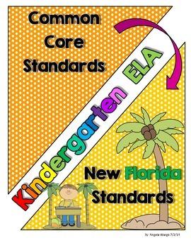 New Florida ELA Standards Compared to CCSS - Kindergarten