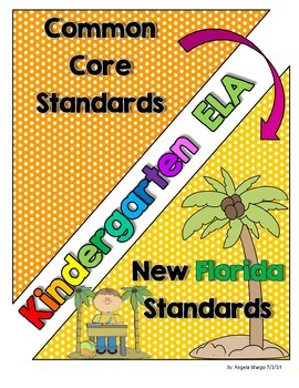 New Florida ELA Standards Compared to CCSS - Kindergarten