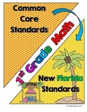 New Florida Math Standards Compared to CCSS - 1st Grade