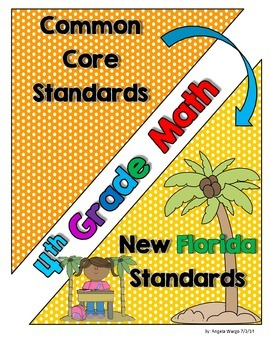 New Florida Math Standards Compared to CCSS - 4th Grade