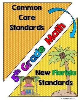 New Florida Math Standards Compared to CCSS - 5th Grade