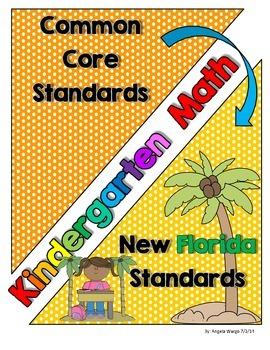 New Florida Math Standards Compared to CCSS - Kindergarten