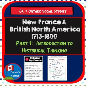 New France & BNA 1713-1800 Part 1:  Concepts of Historical