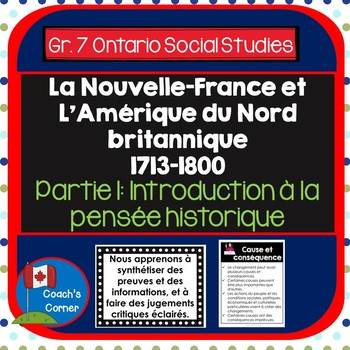 New France & BNA 1713-1800 Part 1:  Concepts of Historical Thinking - FI VERSION