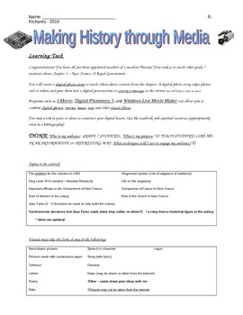 New France: Digital History Assignment