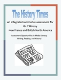 New France Final Project - The History Times Newspaper