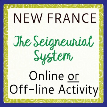 New France The Seigneurial System (Canadian History)