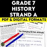 Grade 7 History New France and British North America 1713–