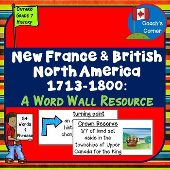 New France and British North America 1713-1800 Word Wall