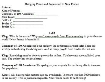 New France skit