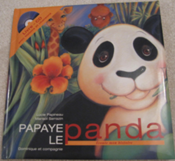 MUSIC French STORY BOOK Papaye le panda CD songs Listening reading center