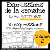 French Expressions of the Week: Vocabulary Graphic Organiz