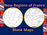 New French Regions Blank Maps