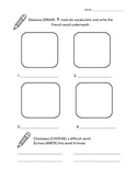 New French Unit Vocabulary Building Sheet