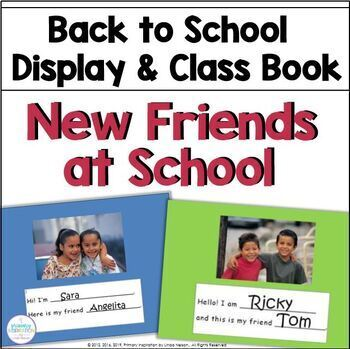 Back to School Friends Display and Class Book