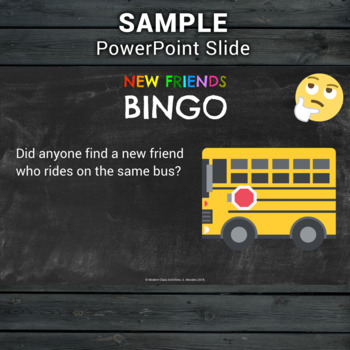 First Day of School Game — New Friends Ice Breaker Activity & PowerPoint
