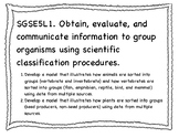 New GSE 5th Grade Science Standards (Georgia Standards of