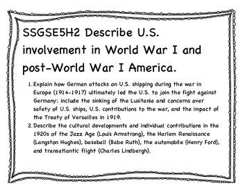 New GSE 5th grade Social Studies Standards (Georgia Standards of Excellence)