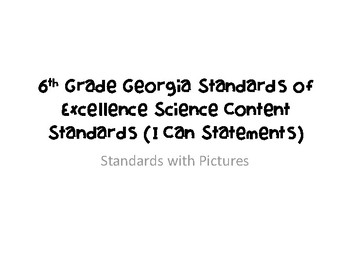 New Georgia Standards of Excellence 6th Grade Earth Science