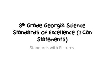 New Georgia Standards of Excellence 8th Grade Physical Science