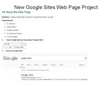 New Google Sites Web Page Project PBL Students make About Me website