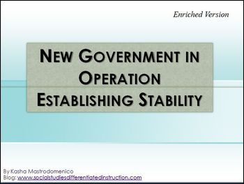 New Government in Operation Establishing Stability Differentiated PowerPoint